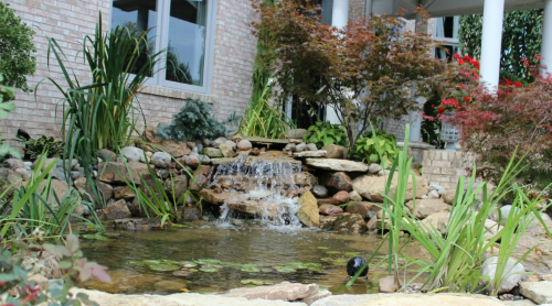 Waterfall and Pond - Landscaping East Cobb Ga Area